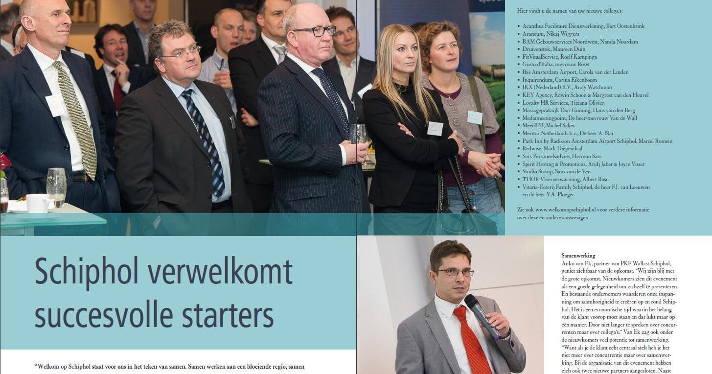 PKF Wallast - evenement Welkom op Schiphol