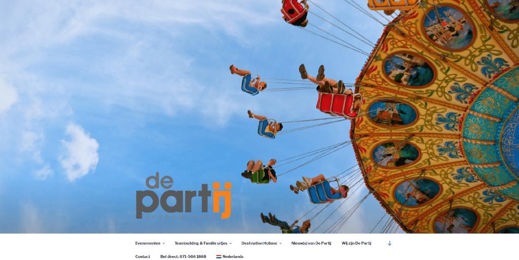 DePartij - website ontwerp en content