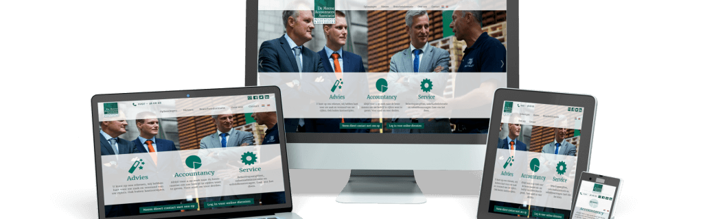 De Meerse accountants - website ontwerp, content en realisatie