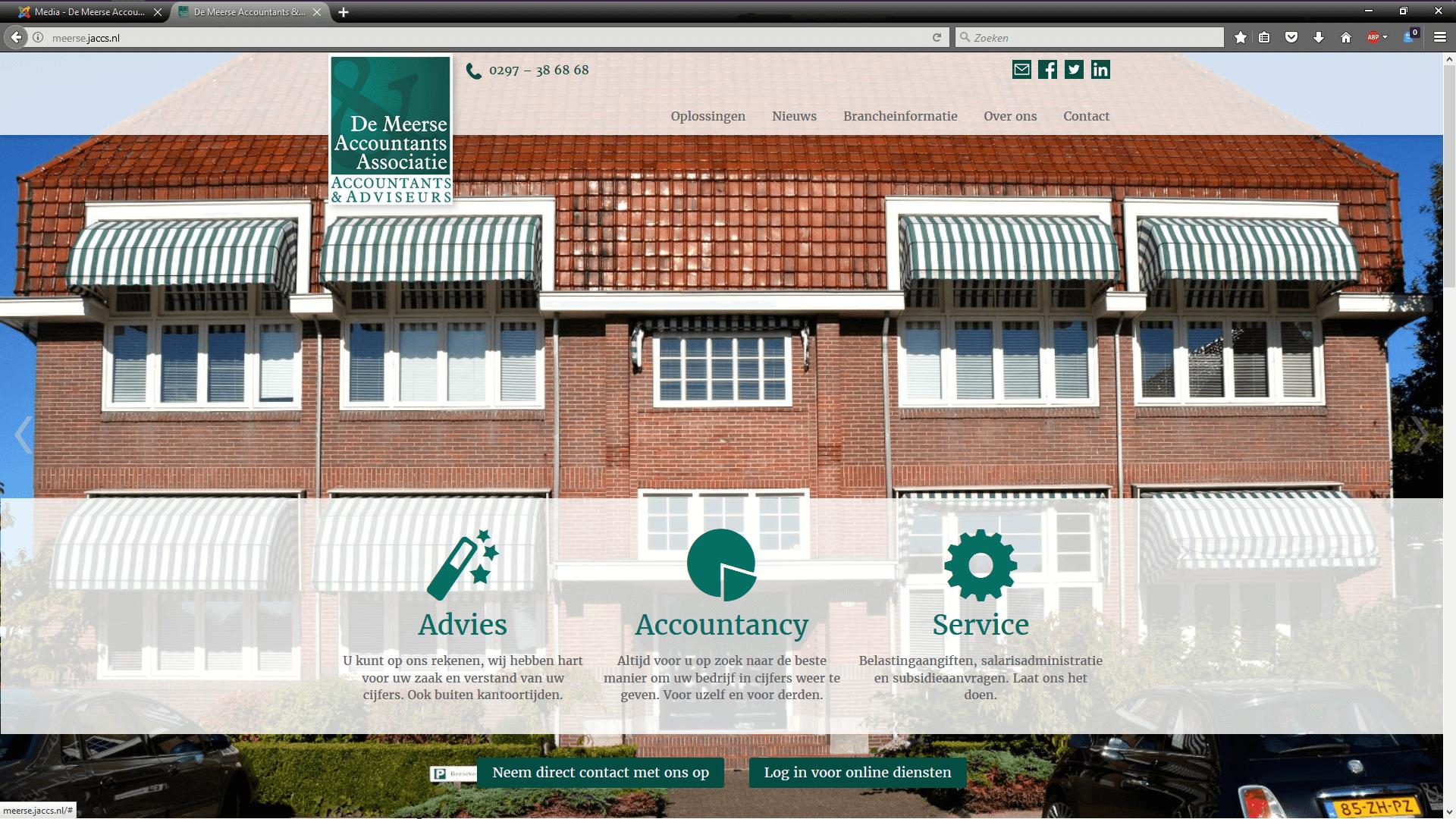 De Meerse accountants - websiteontwerp, -content en begeleiding realisatie